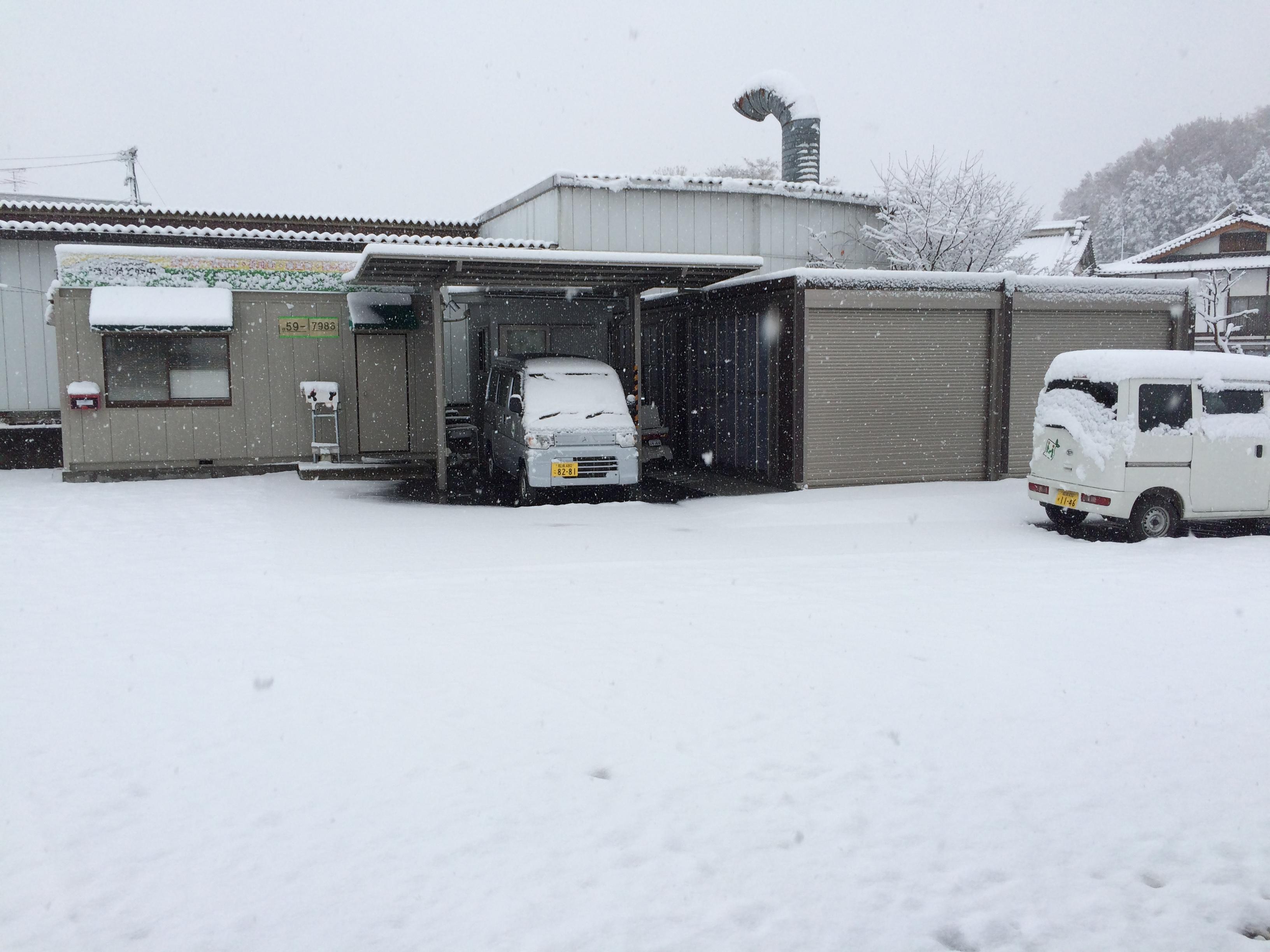 11月24日早朝、初雪14cmを記録しました。