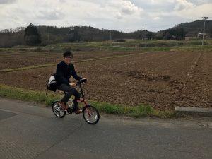 本宮市のポスティングは自転車で