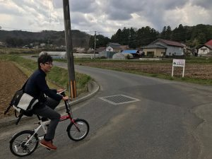 自転車でポスティング
